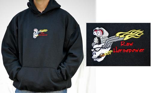 Raw Horsepower Logo hooded sweatshirt