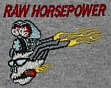 Raw Horsepower embroidered shirt