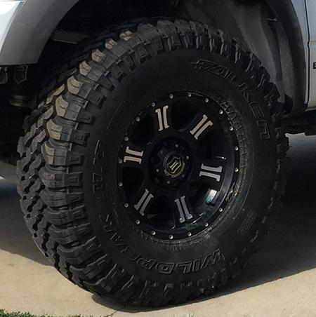 Falken Wildpeak MT on Icon Alloy Shield wheels - Raw Horsepower